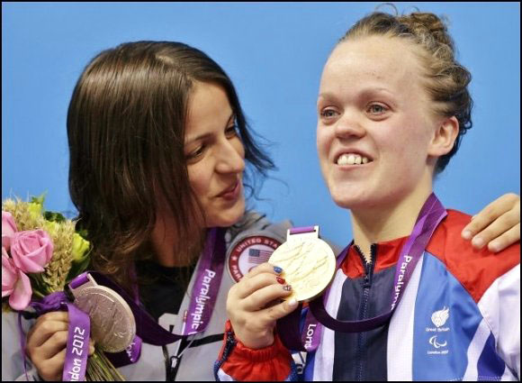 Victoria Arlen and Ellie Simmonds