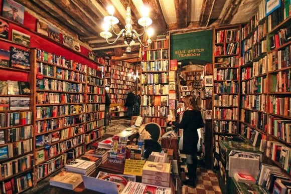Inside Shakespeare and Co bookstore