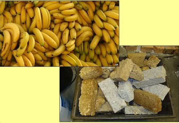 Bananas and briquettes
