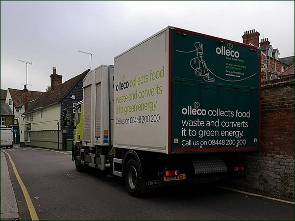 Olleco waste food collection vehicle