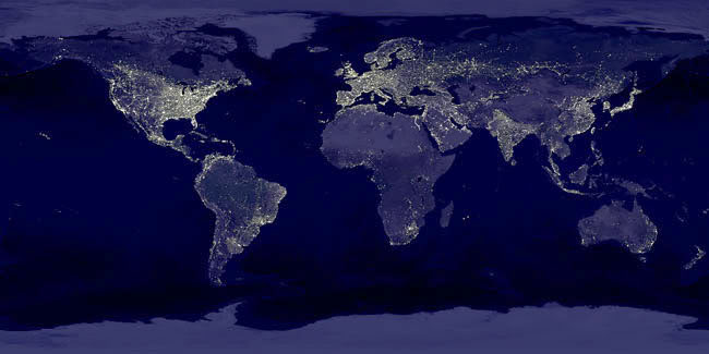Picture of Earth at night