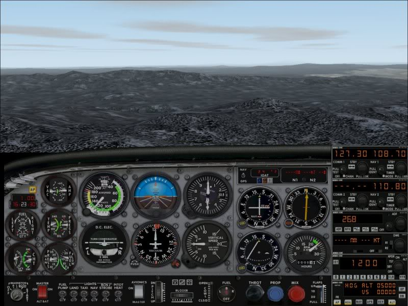 View from cockpit