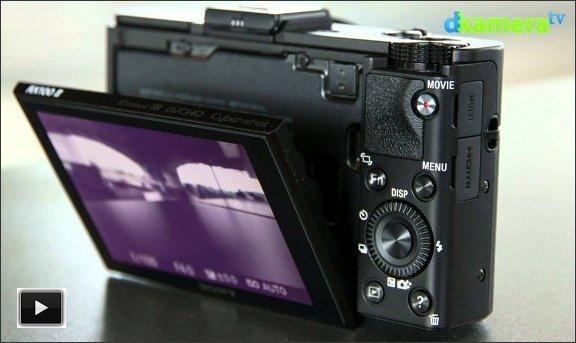 Sony Cyber-Shot DSC-RX100 II rear view, courtesy of dkameraTV