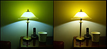 Lamps with different colour warmths