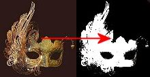 Picture of Venetian mask and Photoshop mask