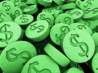 Picture of green dollars