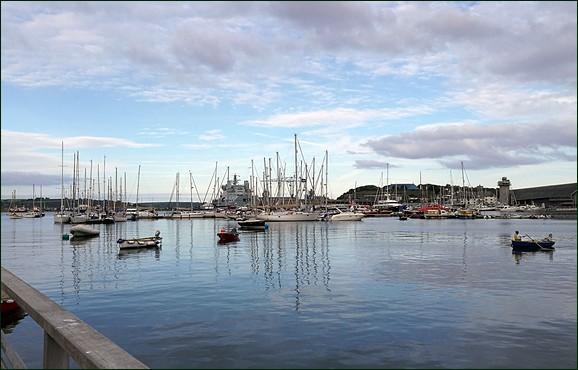 Evening boats at Falmouth