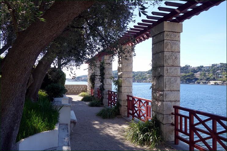 View looking from terrace of Villa K�rylos, Beaulieu-sur-Mer