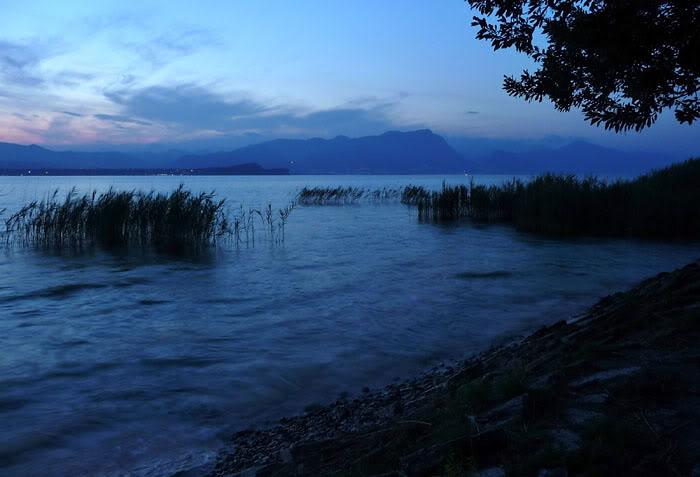Evening view of Lake Garda from Sirmione