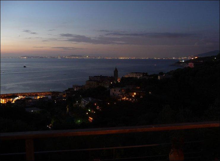 Evening view of Marina della Lobra and Naples