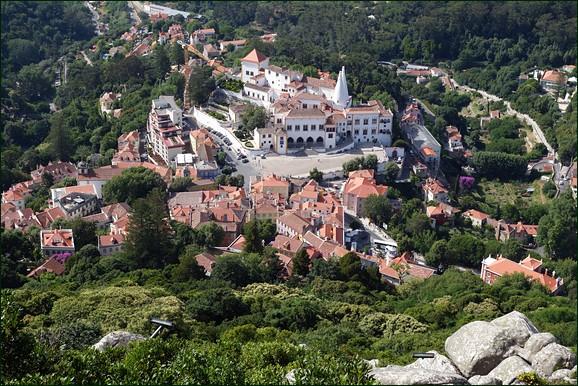 Sintra seen from descent from Moorish Castle
