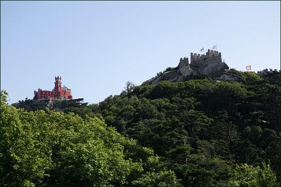Quinta da Regaleira above the Moorish Castle