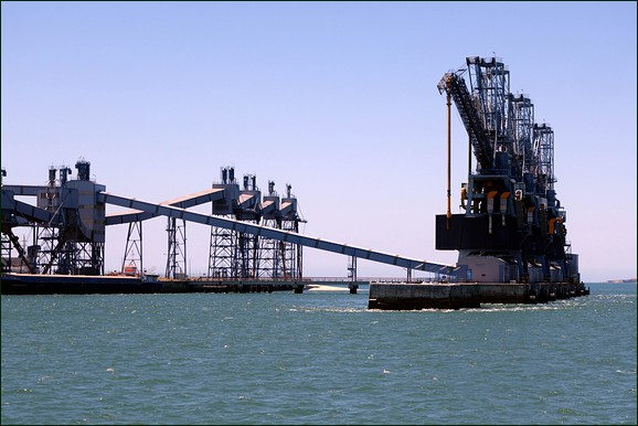 Cranes on Tagus river