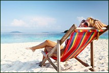 Picture of girl in deckchair