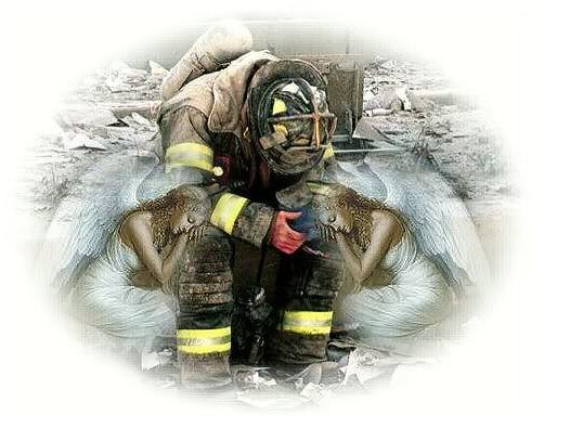 Picture of fireman after 9-11
